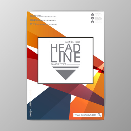 A4 Size, Abstract Cover Background polygon design, Business Brochure Template, Flyer Layout, Report-Vector illustration-01