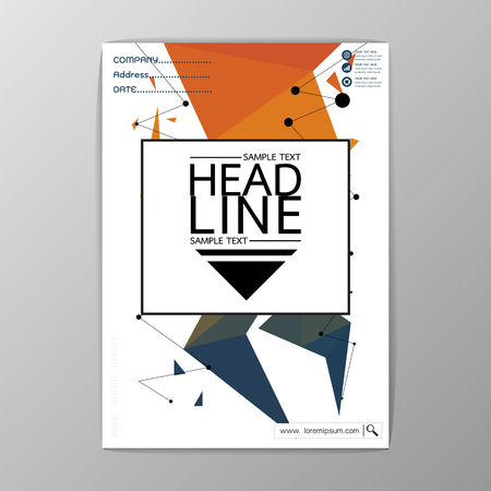 Abstract Cover Background polygon design, Business Brochure Template, Flyer Layout, Report, A4 Size, Vector illustration Illustration
