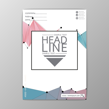 Abstract Cover Background polygon design, Business Brochure Template, Flyer Layout, Report, A4 Size-Vector illustration Illustration