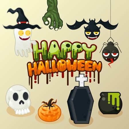 Halloween design elements-Vector illustration