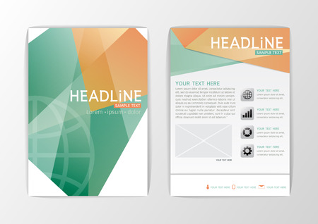 Abstract Cover design, Business Brochure Template,  booklet, illustration