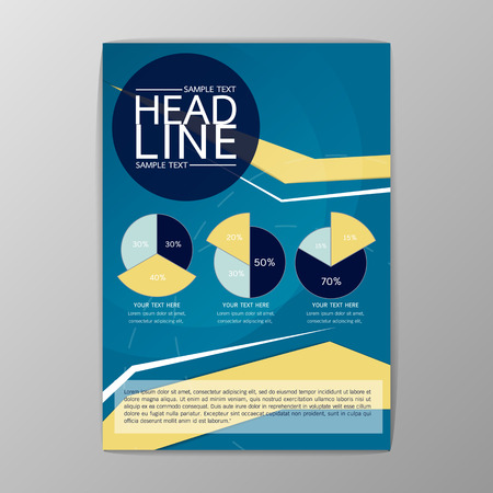 Abstract Cover infographic design, Business Brochure Template, booklet-illustration Illustration
