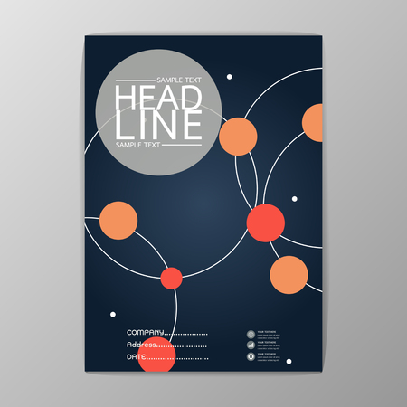 Abstract Cover, Background Circle design, Business Brochure, Template , booklet, illustration