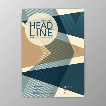 Abstract Cover, Background polygon design, Business Brochure, Template , booklet-illustration Illustration