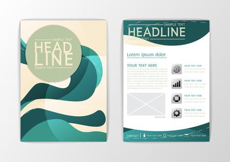 Abstract curve Brochure design Template, Booklet-illustration Illustration
