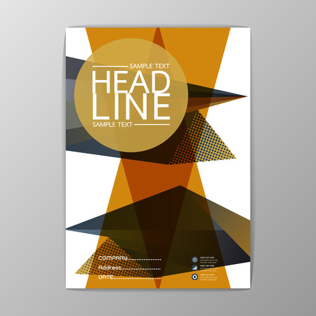 Abstract Cover Background polygon design, Business Brochure, Template , booklet, illustration