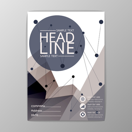 Abstract Cover Background polygon design, Business Brochure, Template , booklet-illustration
