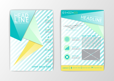 A4 Abstract Cover, Background design, Business Brochure, Template Flyer, booklet, report