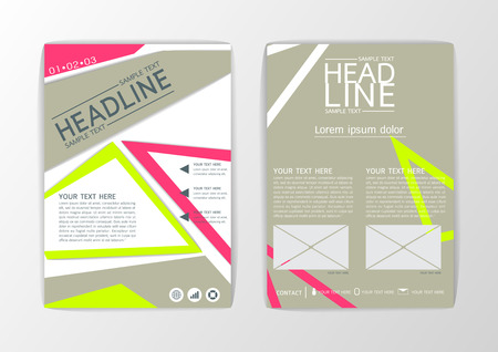 A4 Abstract Cover, Background design, Business Brochure, Template Flyer, booklet, report-Vector illustration