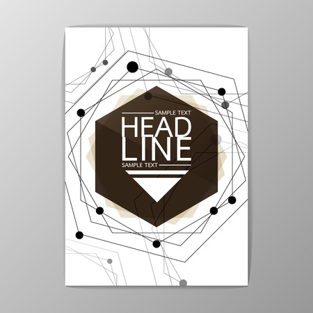 Abstract Cover, Background design, Business Brochure, Template Flyer, booklet, report-Vector