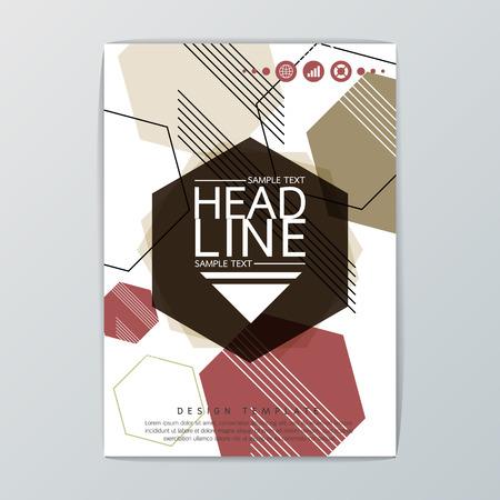 Abstract design, Hexagon Geometric Brochure Template. Flyer Layout-Vector illustration Illustration