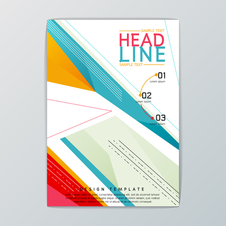 A4 size Abstract Background design, Business Brochure, Template Flyer, booklet, report, Cover, Vector illustration
