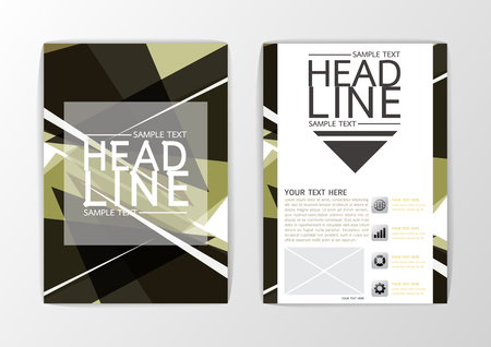 A4 size Abstract Cover, Background design, Business Brochure, Template Flyer, booklet, report-Vector illustration