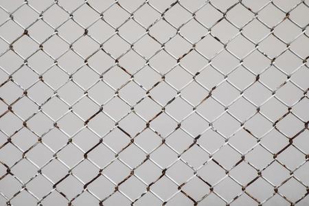 Iron net rust on white background