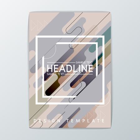 Abstract Modern Brochure, background design, Flyer template layout-vector illustration Illustration
