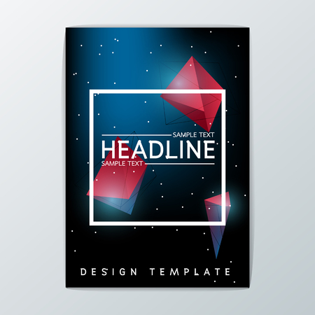 A4 Size, Abstract Cover Background design, Brochure Template, Flyer Layout, Report, booklet-Vector illustration