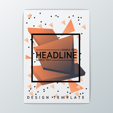 Vector Abstract Brochure Background design, Template Flyer Layout, A4 size Illustration