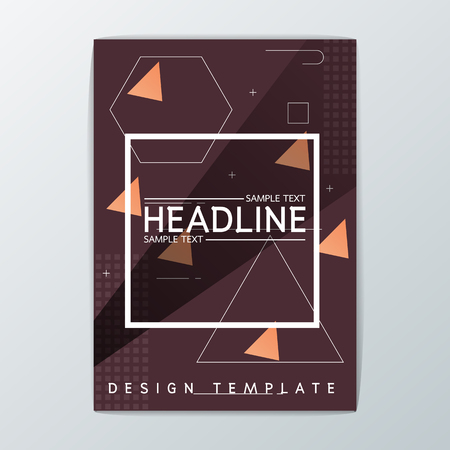 A4 Abstract Brochure Background design, Template Flyer Layout, Vector illustration Illustration