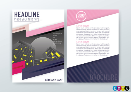 Abstract modern Background Design, Business Brochure Template, Flyer Layout, Annual Report, Magazine, in A4 size-Vector Illustration