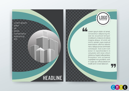 Vector Illustration of Abstract modern Background Design, Business Brochure Template, Flyer Layout, Annual Report, Magazine, in A4 size 矢量图像