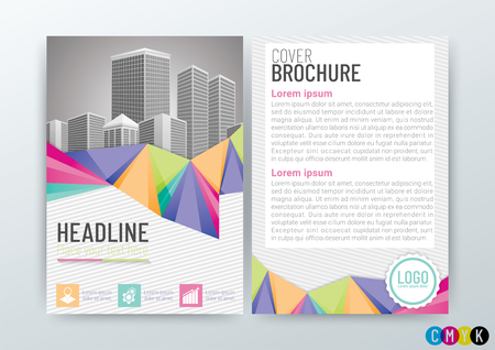 Abstract background design, poster flyer pamphlet brochure, cover layout, company profile, template in A4 size Vector Illustration