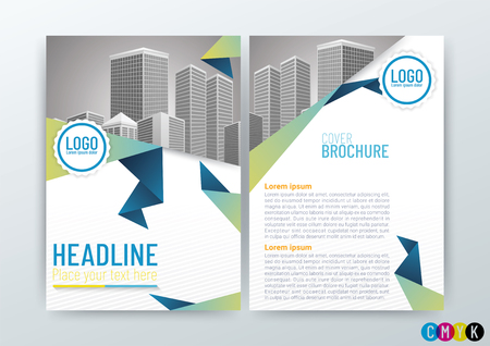 Business Brochure cover design template vector illustration Иллюстрация