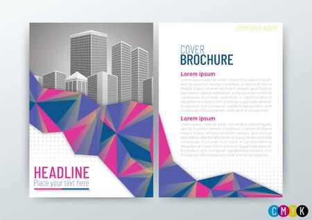 Business Brochure cover design template vector illustration 矢量图像