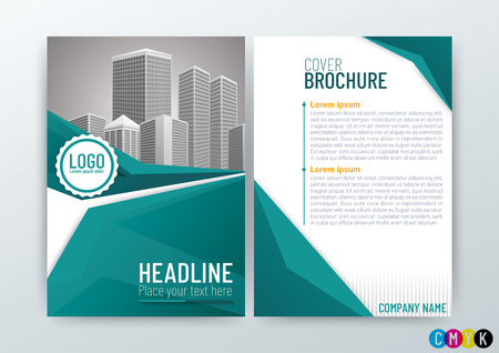 A4 Size Front and back cover, Abstract modern Background, Creative Design, Business Brochure Template, Flyer Layout, Annual Report-Vector Illustration
