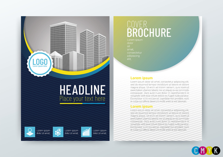 A4 Size Front and back cover, Abstract modern Background Creative Design, Business Brochure, Template Flyer Layout, Annual Report, Vector Illustration