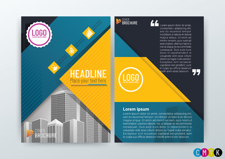 Abstract modern Background Design Template, Business Brochure, Flyer Layout, Poster, Magazine, Annual Report, CMYK Color, vector illustration