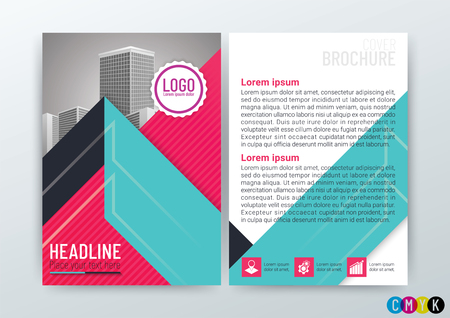 Abstract modern Background Design Template, Business Brochure, Flyer Layout, Poster, Magazine, Annual Report, CMYK Color-vector illustration