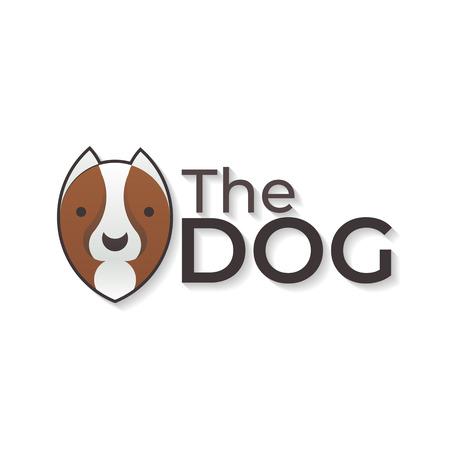 Dog vector logo-vector illustration