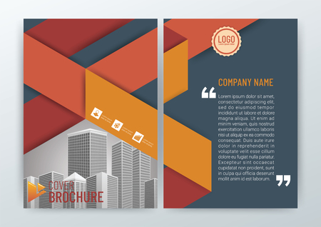 Abstract Background Design Template, Business Brochure, Flyer Layout, Poster, Magazine, Annual Report, Front and back, CMYK Color in Size A4 - vector illustration 矢量图像