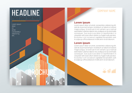 Abstract Background Design Template, Business Brochure, Flyer Layout, Poster, Magazine, Annual Report, Front and back, CMYK Color in Size A4, vector illustration