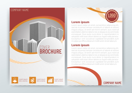 Abstract Background Design Template, Business Brochure, Flyer Layout, Poster, Magazine, Annual Report, Front and back, CMYK Color, vector illustration