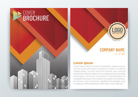 Abstract Background Design Template, Business Brochure, Flyer Layout, Poster, Magazine, Annual Report, Front and back, CMYK Color-vector illustration