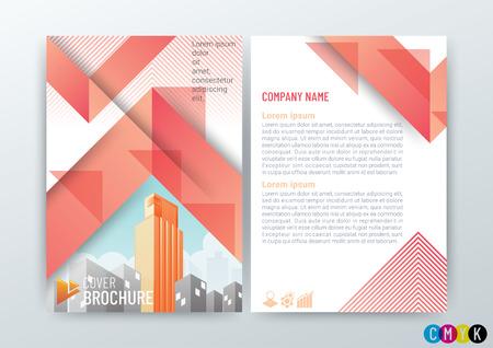 Abstract modern Background Design Template, Business Brochure, Flyer Layout, Poster, Magazine, Annual Report,  booklet, Front and back, CMYK Color in Size A4 - vector illustration