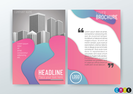Abstract modern Background Design Template, Business Brochure, Flyer Layout, Poster, Magazine, Annual Report,  booklet, Front and back, Gradients Color Style CMYK in Size A4, vector illustration