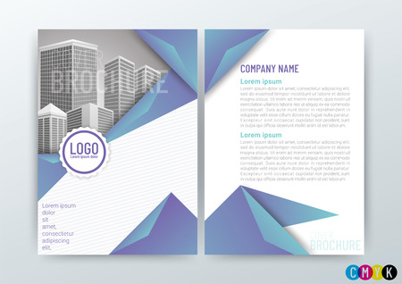 Abstract modern Background Design Template, Business Brochure, Flyer Layout, Poster, Magazine, Annual Report, Front and back, CMYK Color in Size A4 - vector illustration
