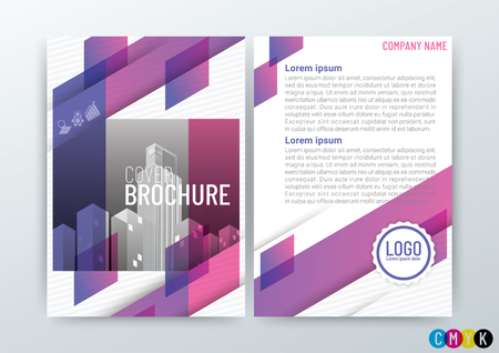 Abstract modern Background Design Template, Business Brochure, Flyer Layout, Poster, Magazine, Annual Report, Front and back, CMYK Color in Size A4, vector illustration 矢量图像