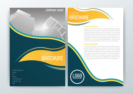 Abstract modern Background Design Template, Business Brochure, Flyer Layout, Poster, Magazine, Annual Report, Front and back, CMYK Color-vector illustration