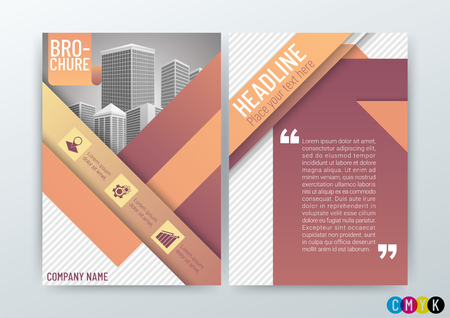 Abstract Background Design Template, Business Brochure, Flyer, Poster, Annual Report, Front and back, CMYK Color, in A4 Size - vector illustration