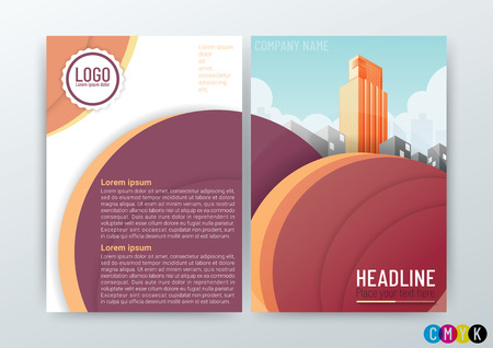 Abstract Background Design Template, Business Brochure, Flyer, Poster, Annual Report, Front and back, CMYK Color, vector illustration
