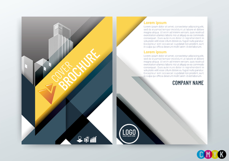 Abstract Background Design Template, Business Brochure, Flyer, Poster, Annual Report, Front and back, CMYK Color-vector illustration