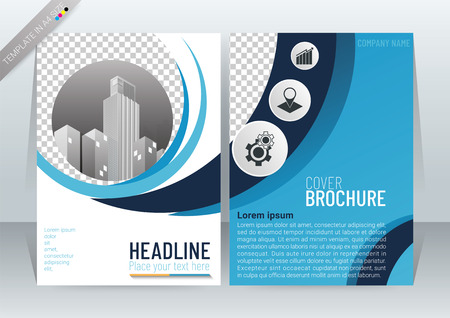 Abstract Modern Background Design, Business Brochure Template, Flyer, Poster, Annual Report, Front and back, CMYK Color mode, in A4 Size, vector illustration 矢量图像