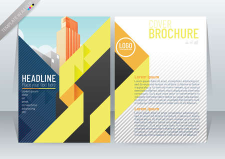 Abstract Modern Background Design, Business Brochure Template, Flyer, Poster, Annual Report, Front and back, in A4 Size, vector illustration