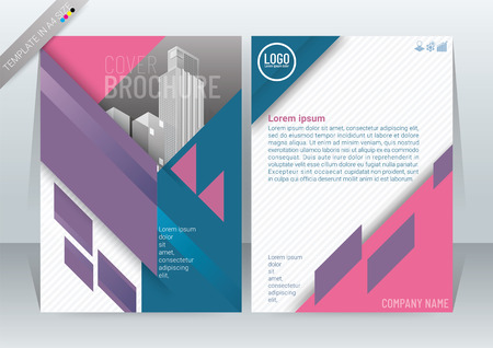 Abstract Modern Background Design, Business Brochure Template, Flyer, Poster, Annual Report, Front and back, in A4 Size-vector illustration