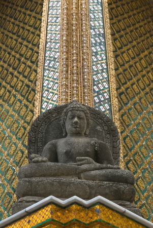 Buddha statue in The Emerald Buddha Temple, Bangkok, Thailand  It is the place for buddhist and tourism  photo