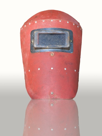 The old mask for welder  photo