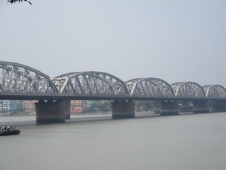 Beautiful bali bridge Stock Photo